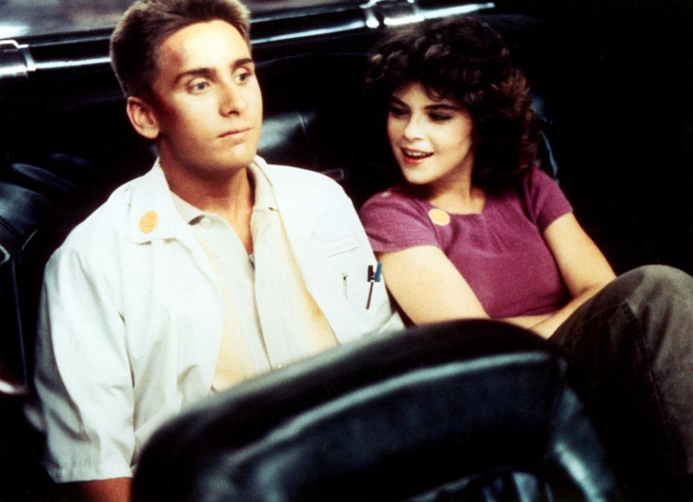Emilio Estevez and Olivia Barash in Repo Man (1984)