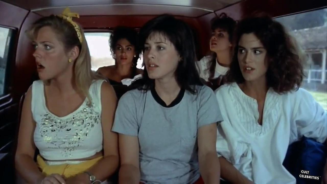 Lucinda Dickey and Rebecca Ferratti in Cheerleader Camp (1988)