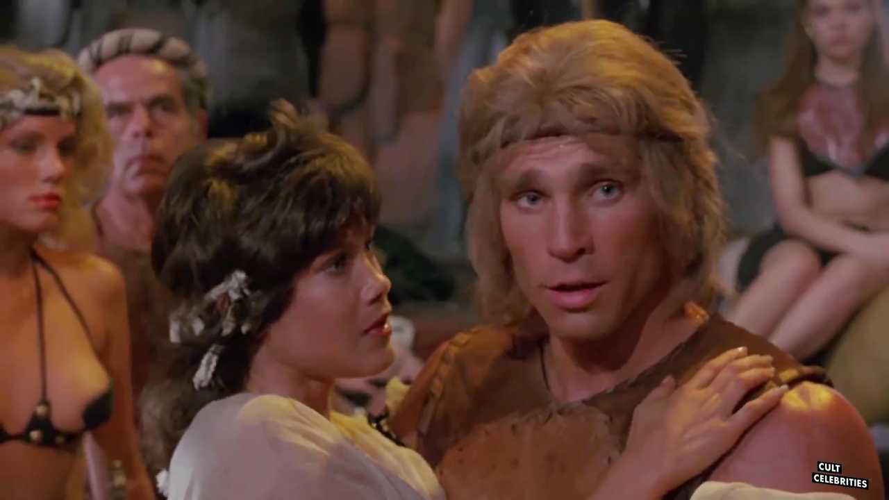 Barbi Benton and Richard Hill in Deathstalker (1983)