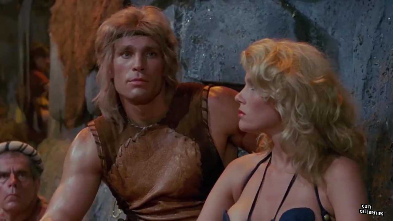 Lana Clarkson and Richard Hill in Deathstalker (1983)