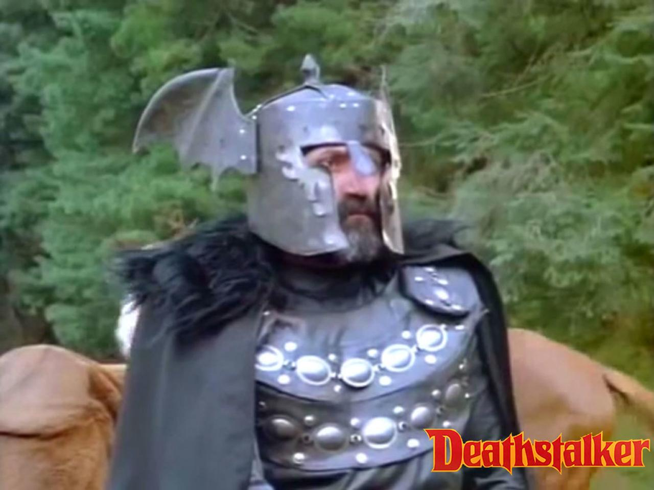 Agustín Salvat as Makut in the sword-and-sorcery film Deathstalker III: The Warriors from Hell