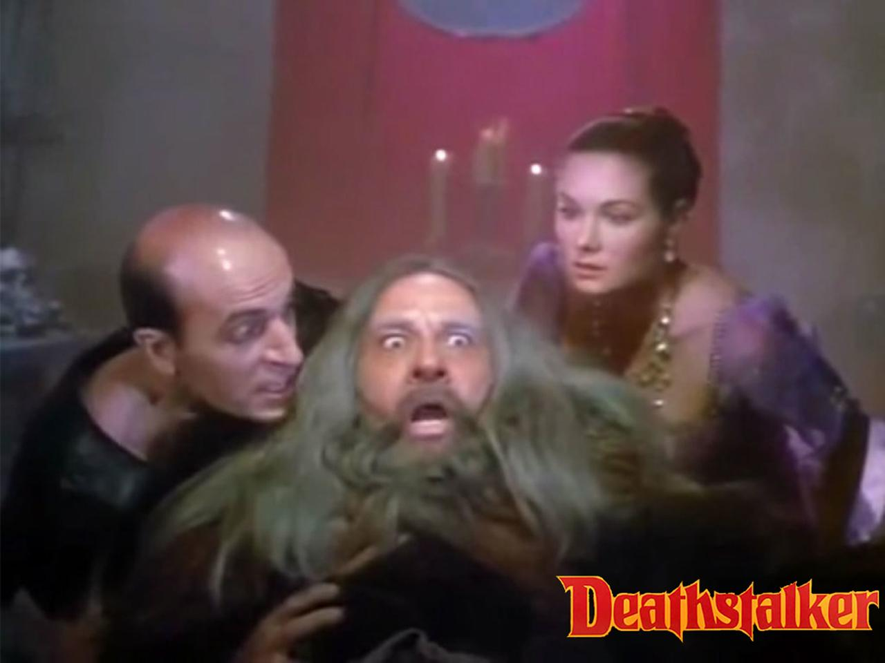 Terri Treas as Camisarde (Troxartes' mistress) in Deathstalker III: The Warriors from Hell