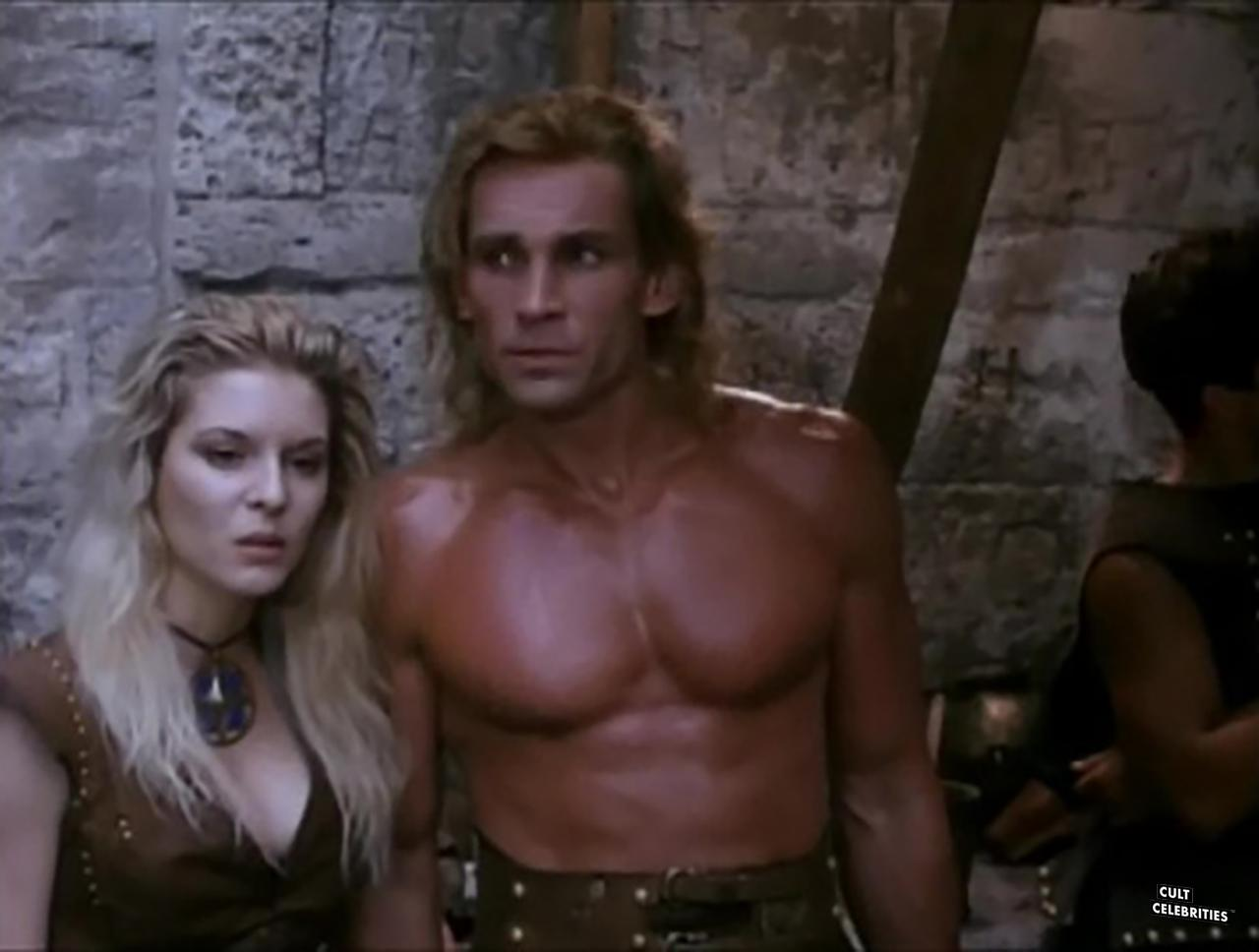 Maria Ford and Richard Hill in Deathstalker IV: Match of Titans (1991)