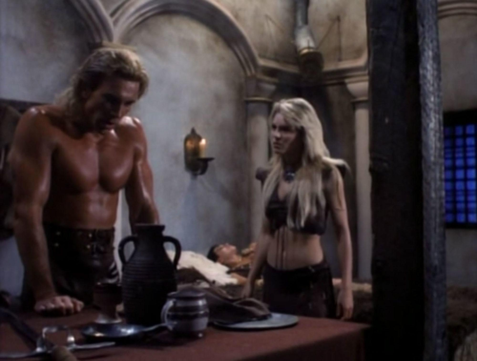 Rick Hill and Carla Herd in Deathstalker IV: Match of Titans