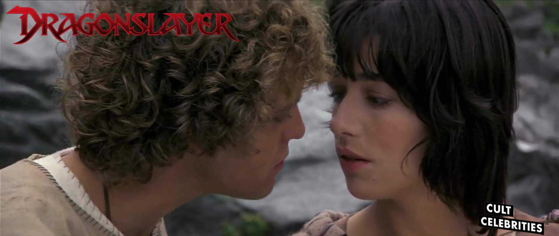 Peter MacNicol and Caitlin Clarke in Dragonslayer (1981)
