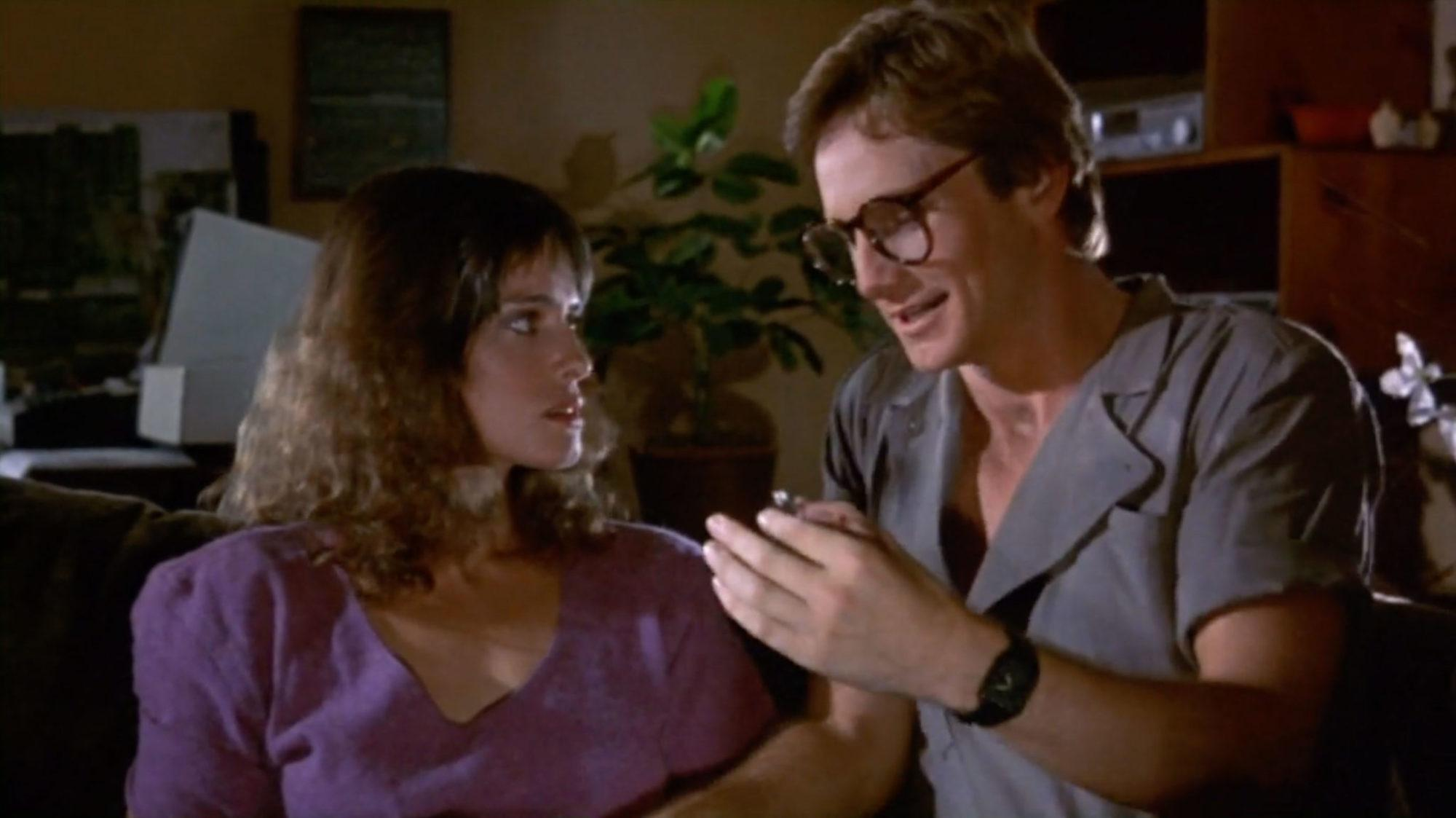 Leslie Wing and Jeffrey Byron in The Dungeonmaster (1984)