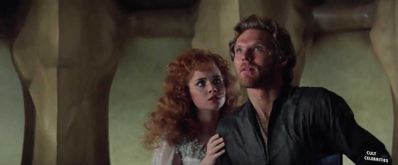 Lysette Anthony and Kenneth Marshall in Krull (1983)