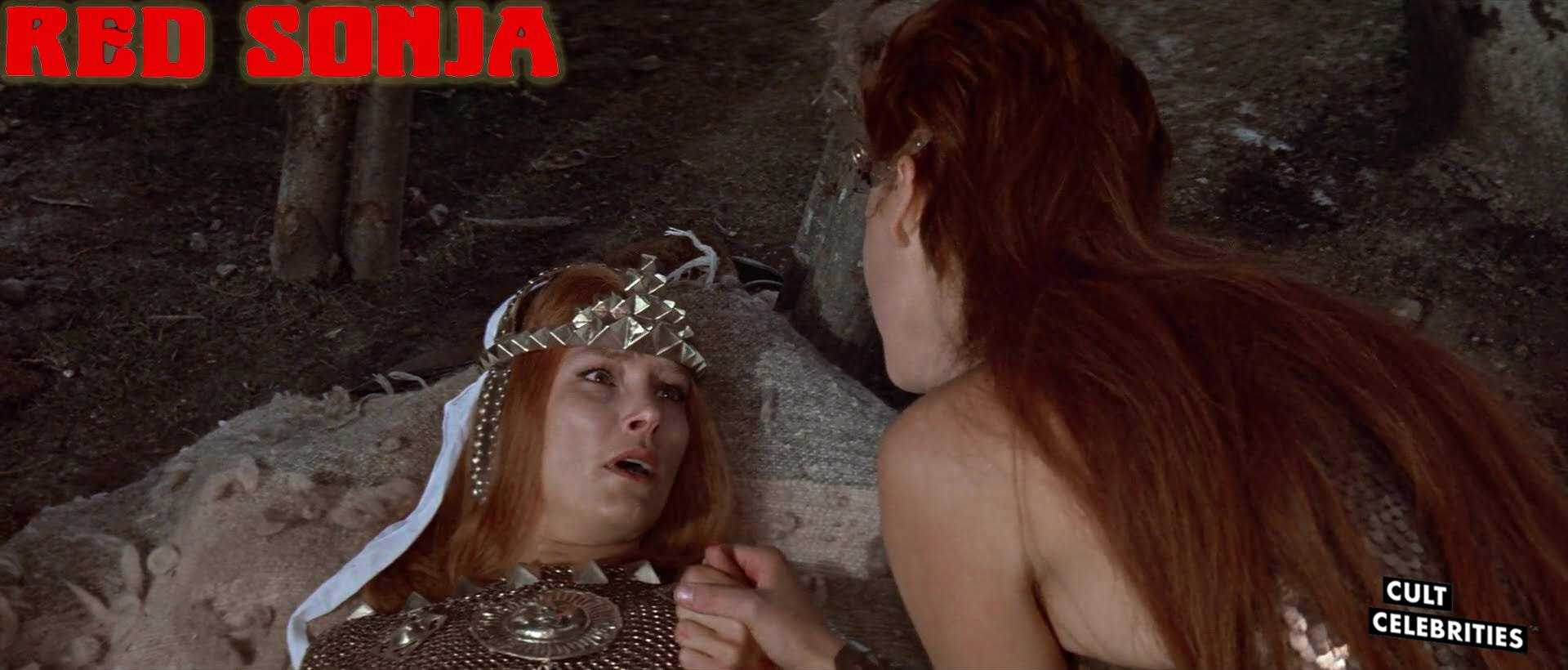 Janet Agren and Brigitte Nielsen In Red Sonja (1985)