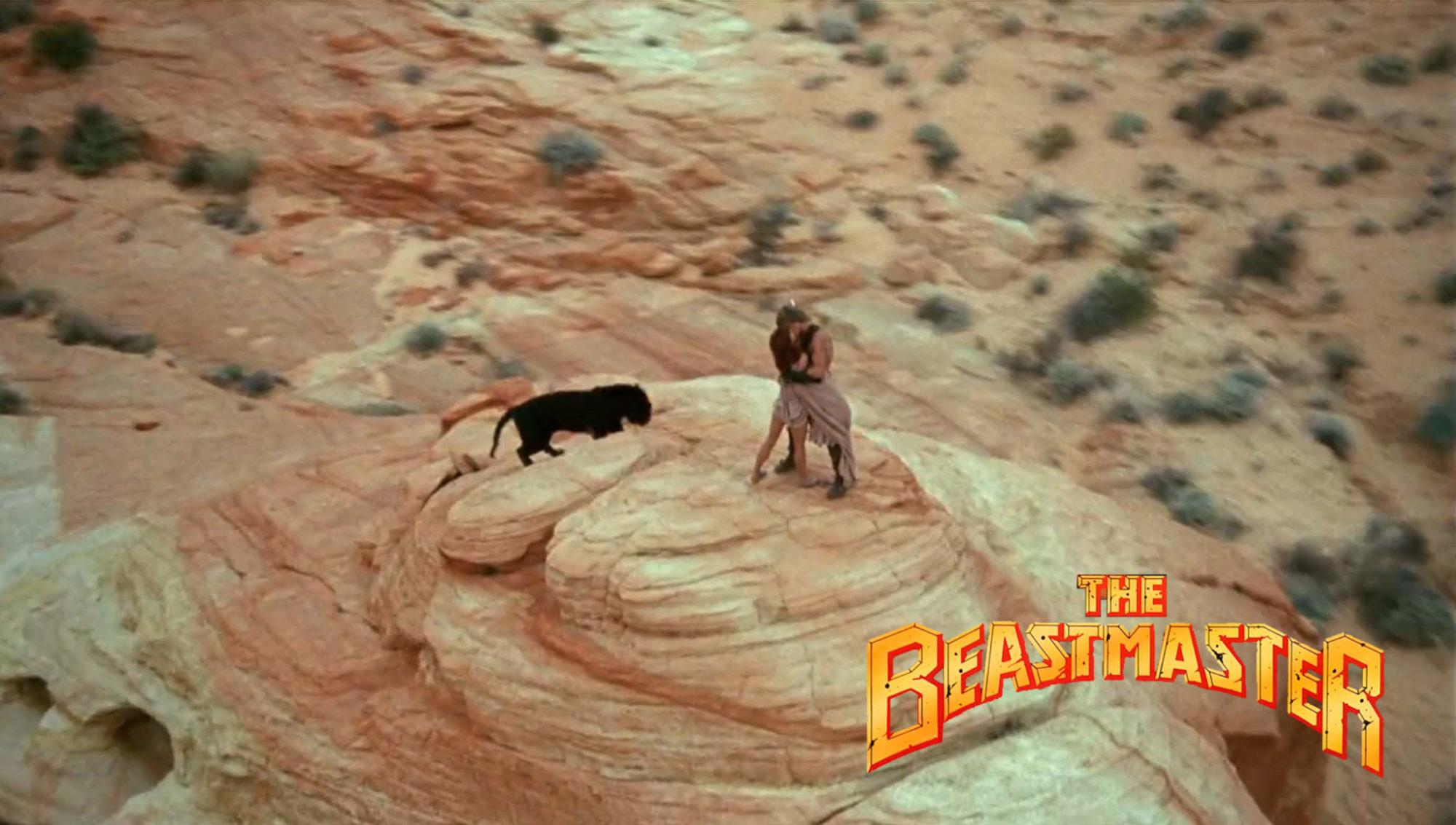 Marc Singer and Tanya Roberts in The Beastmaster