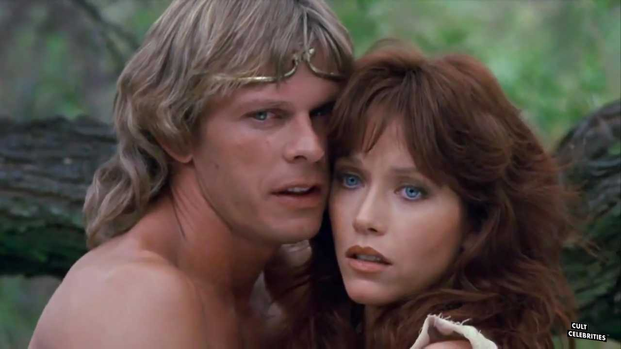 Marc Singer and Tanya Roberts in The Beastmaster (1982)