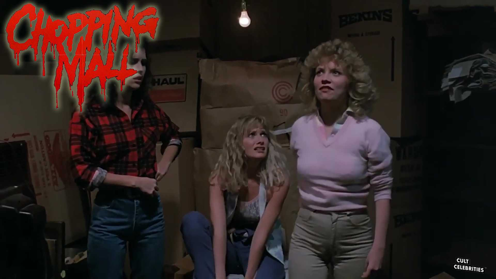 Kelli Maroney, Karrie Emerson and Barbara Crampton in Chopping Mall (1986)