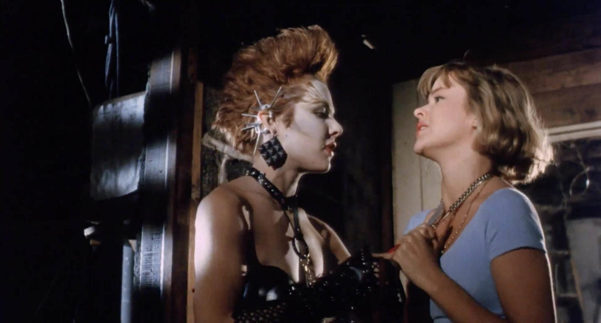 Janelle Brady and Lauren Heather McMahon in Class Of Nuke 'Em High (1986)