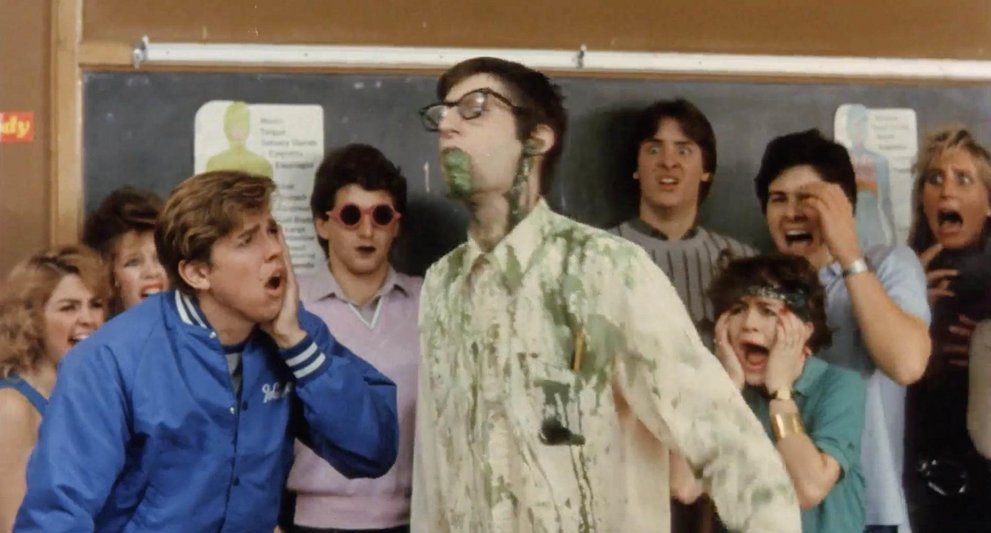 Gil Brenton and Arthur Lorenz in Class of Nuke 'Em High (1986)
