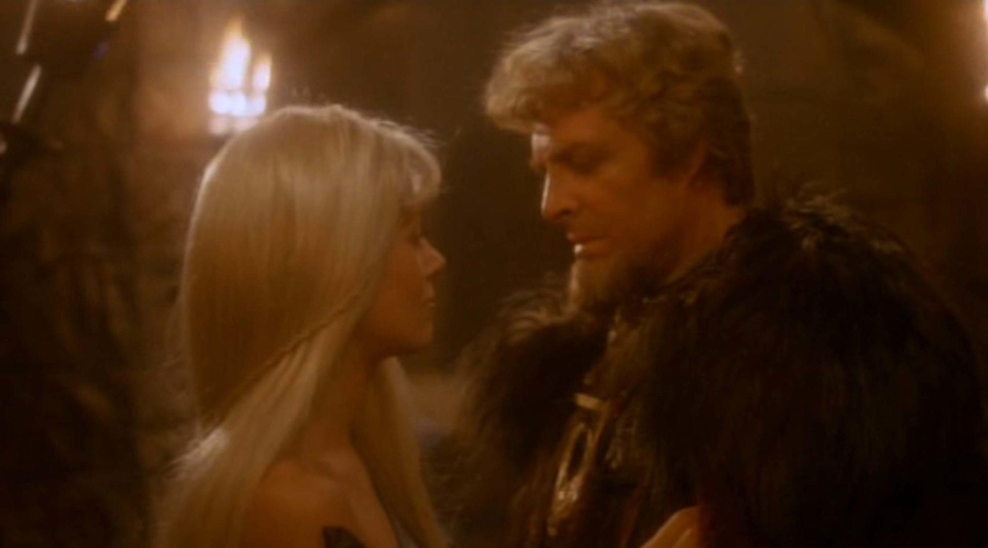 Anna Bjorn and Richard Lynch in The Sword and the Sorcerer (1982)
