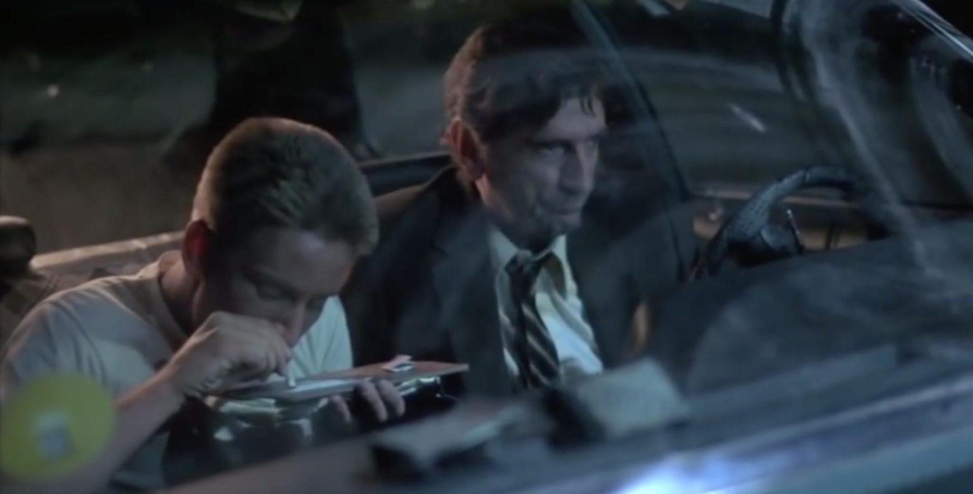 Emilio Estevez and Harry Dean Stanton in Repo Man (1984)