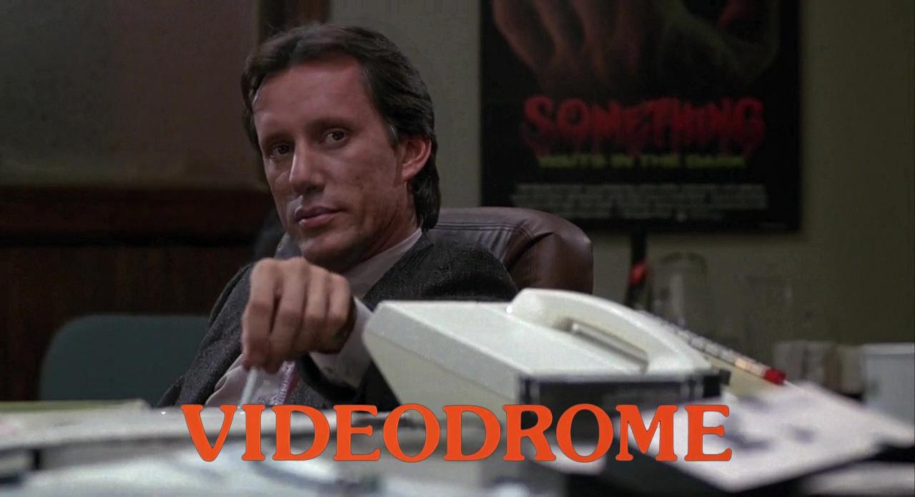 James Woods in Videodrome (1983)