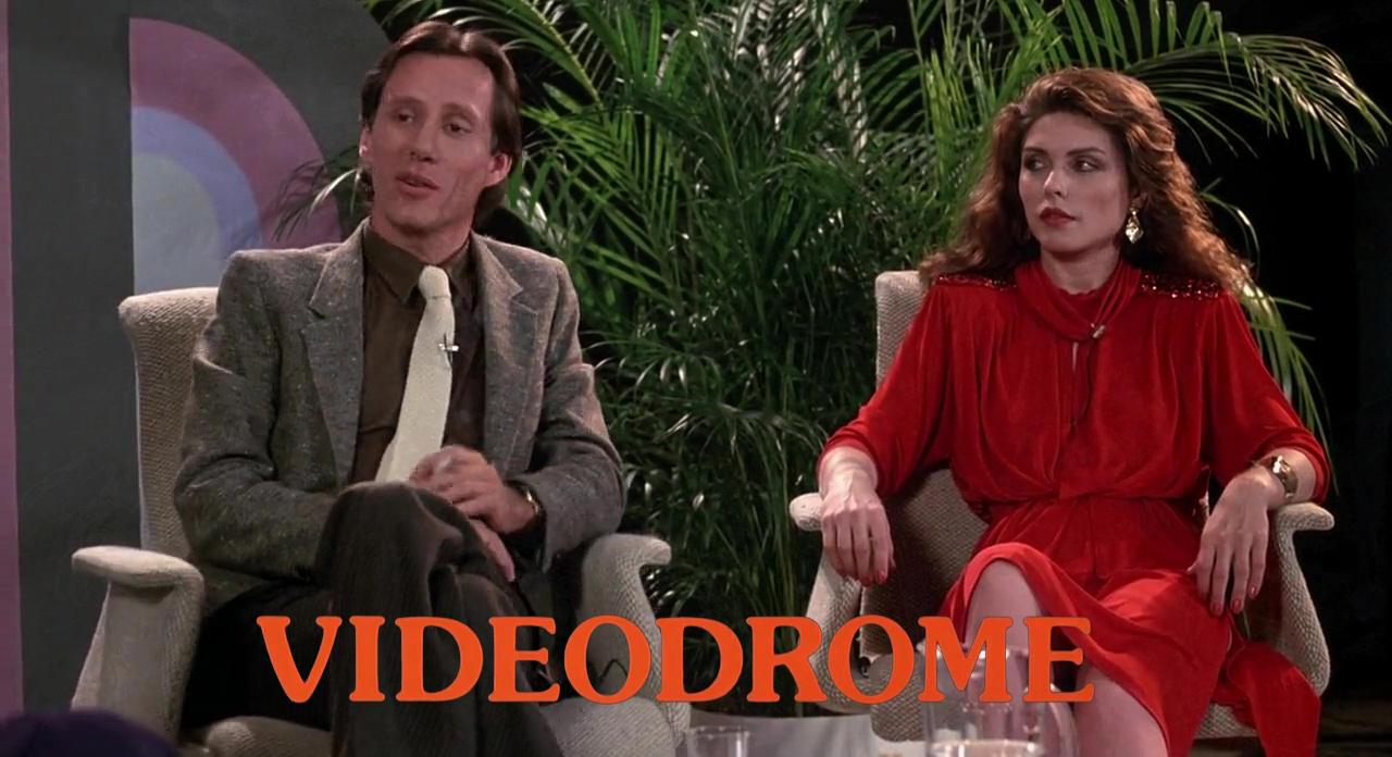 James Woods and Debbie Harry in Videodrome (1983)