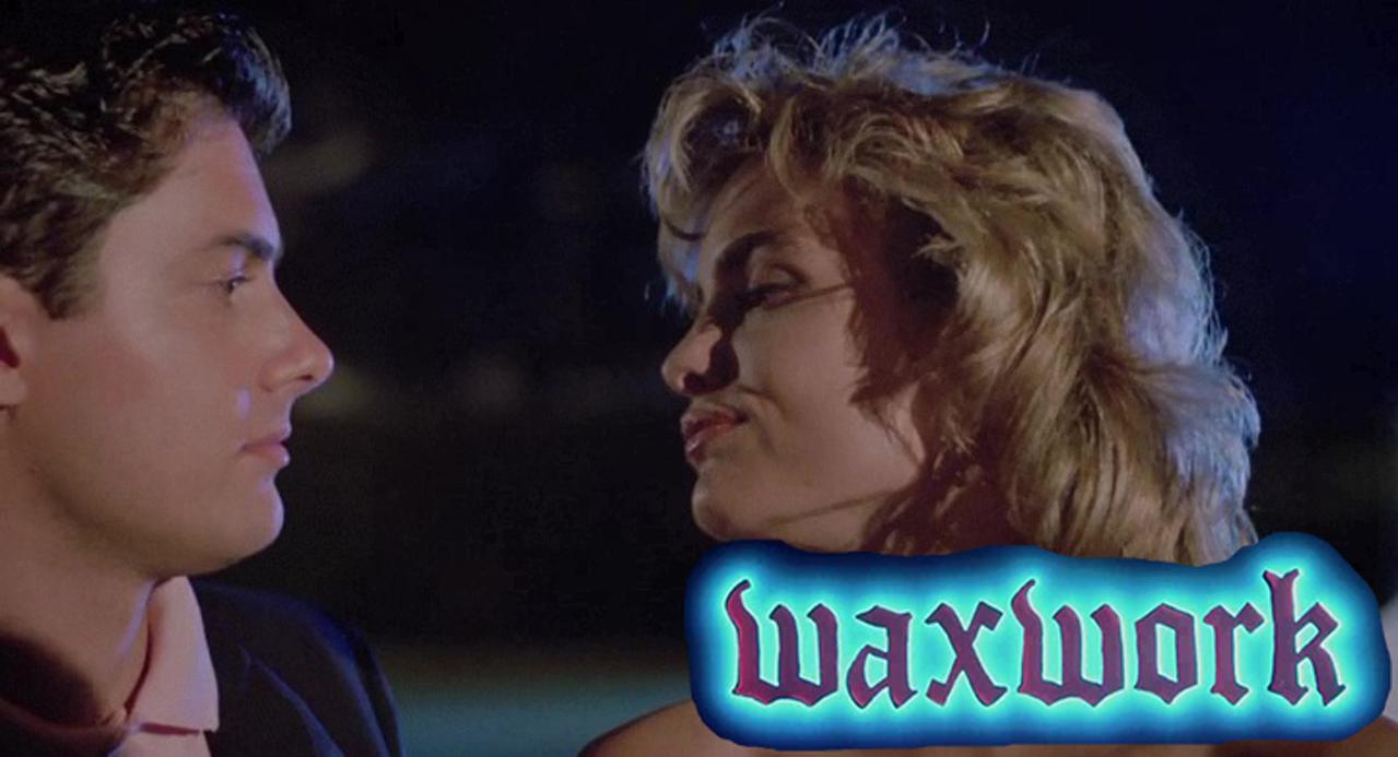 Zach Galligan and Deborah Foreman in Waxwork (1988)