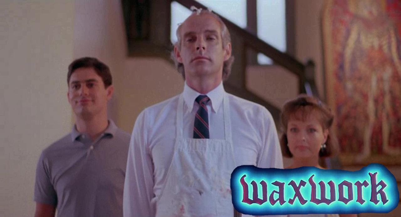 Zach Galligan and Deborah Foreman in Waxwork (1988)