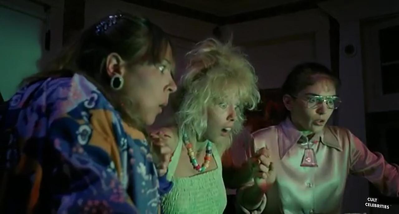 Michelle Bauer, Linnea Quigley, and Brinke Stevens in Nightmare Sisters (1988)