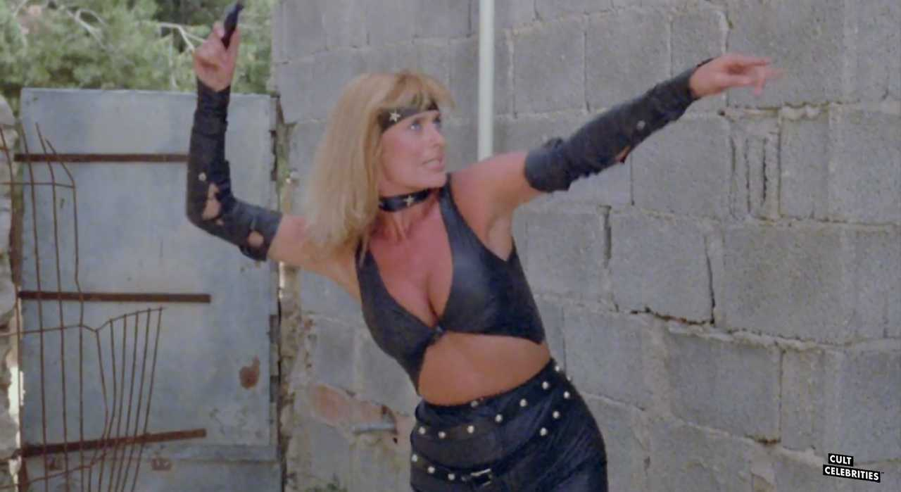 Sybil Danning in Panther Squad (1984)