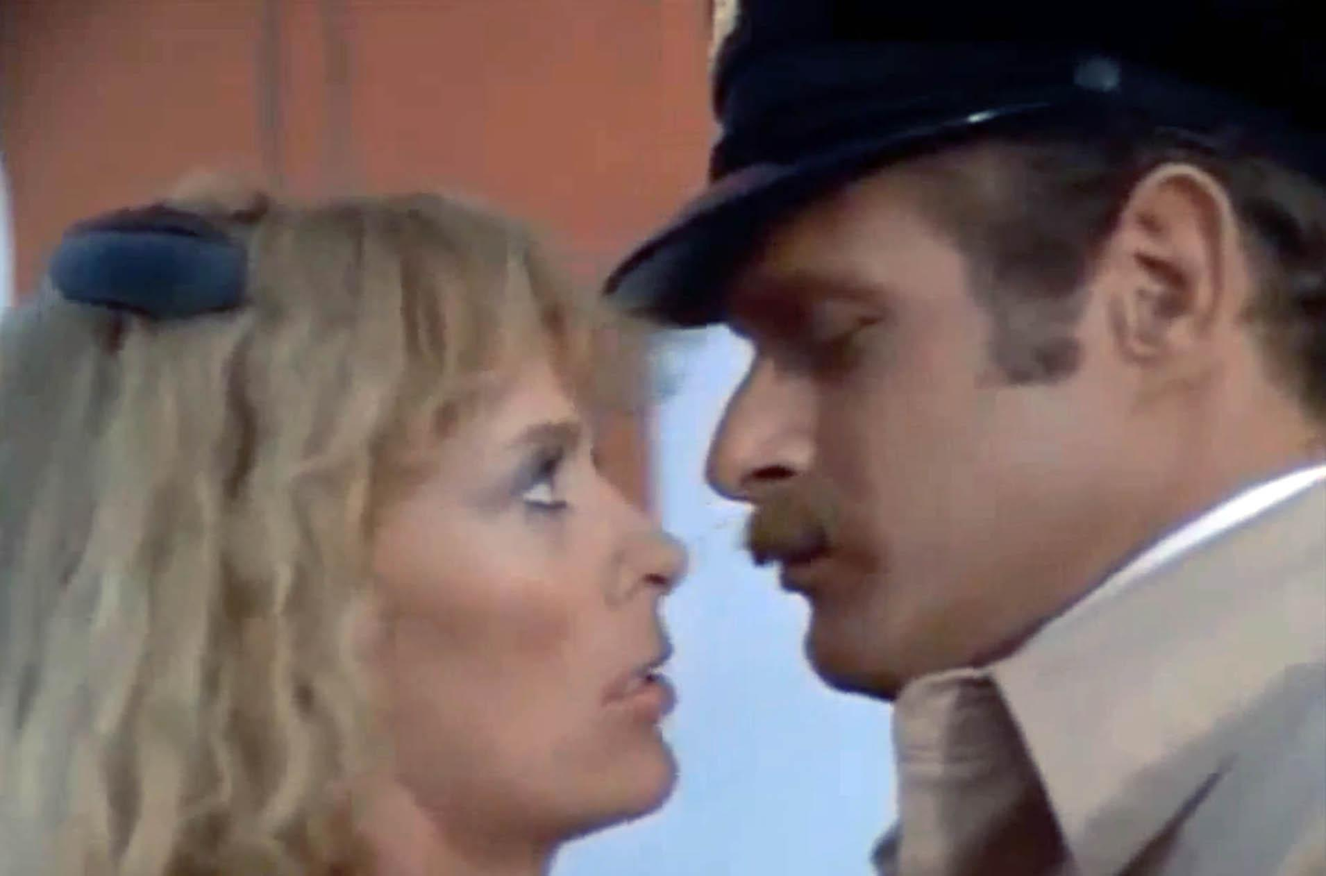 Sybil Danning and Frano Nero in The Salamander (1981)