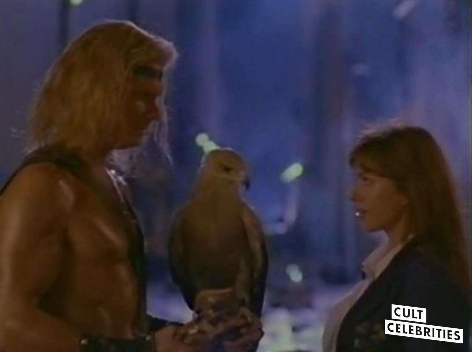 Marc Singer and Kari Wuhrer in Beastmaster 2: Through the Portal of Time (1991)