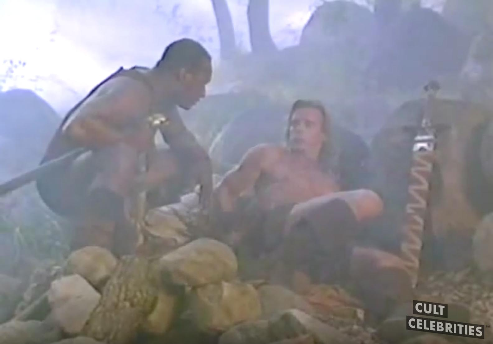 Marc Singer and Tony Todd in Beastmaster III: The Eye of Braxus (1996)