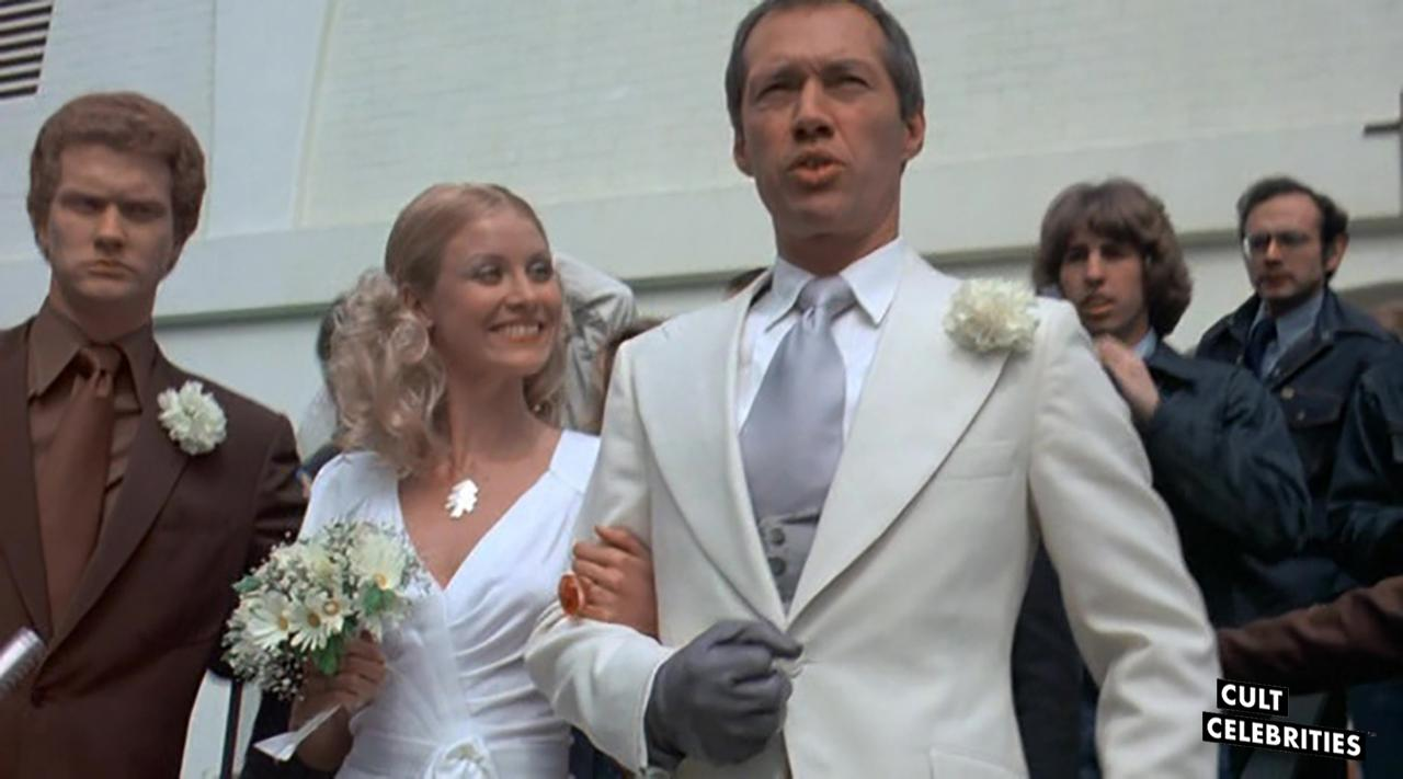 David Carradine and Simone Griffeth in Death Race 2000 (1975)