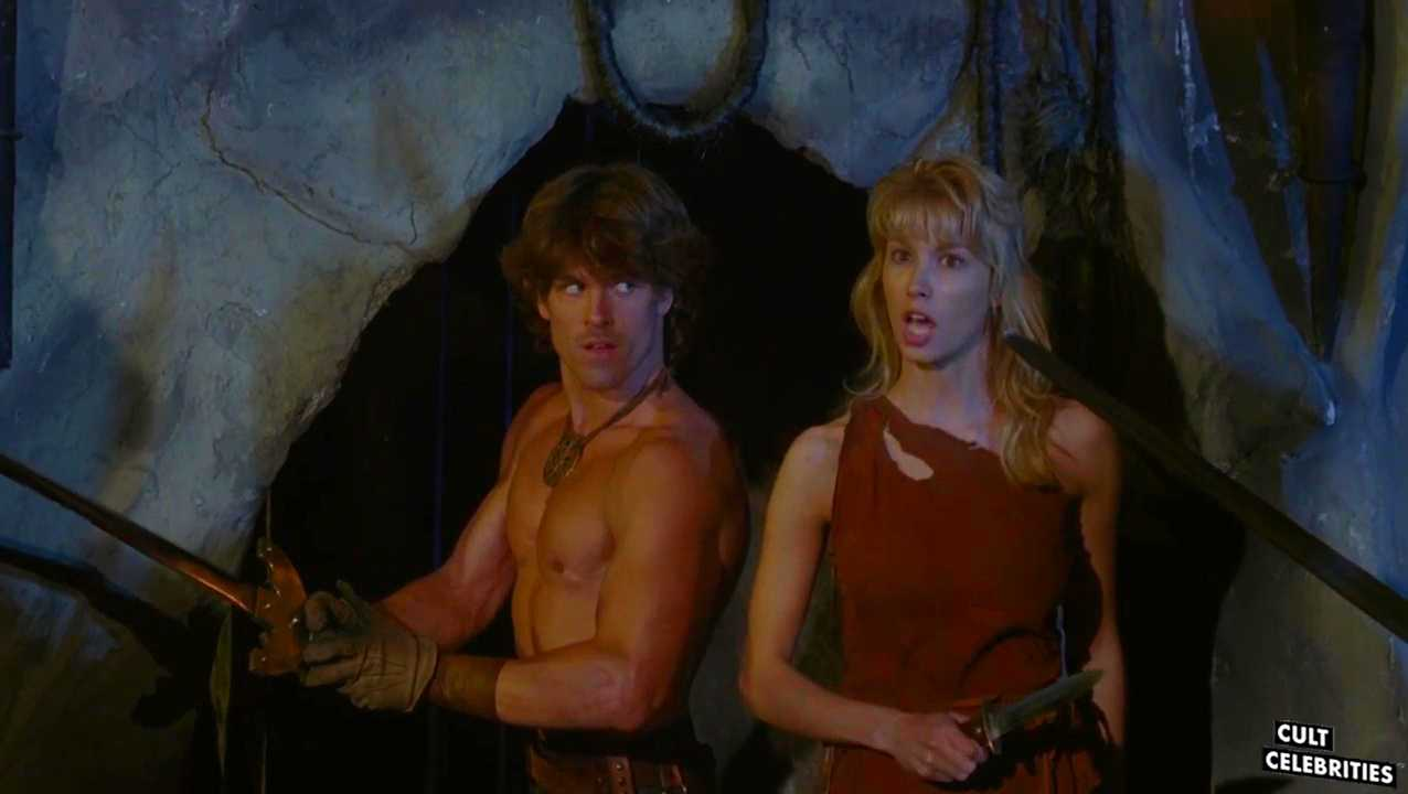 John Terlesky and Monique Gabrielle in Deathstalker II: Duel of the Titans (1987)