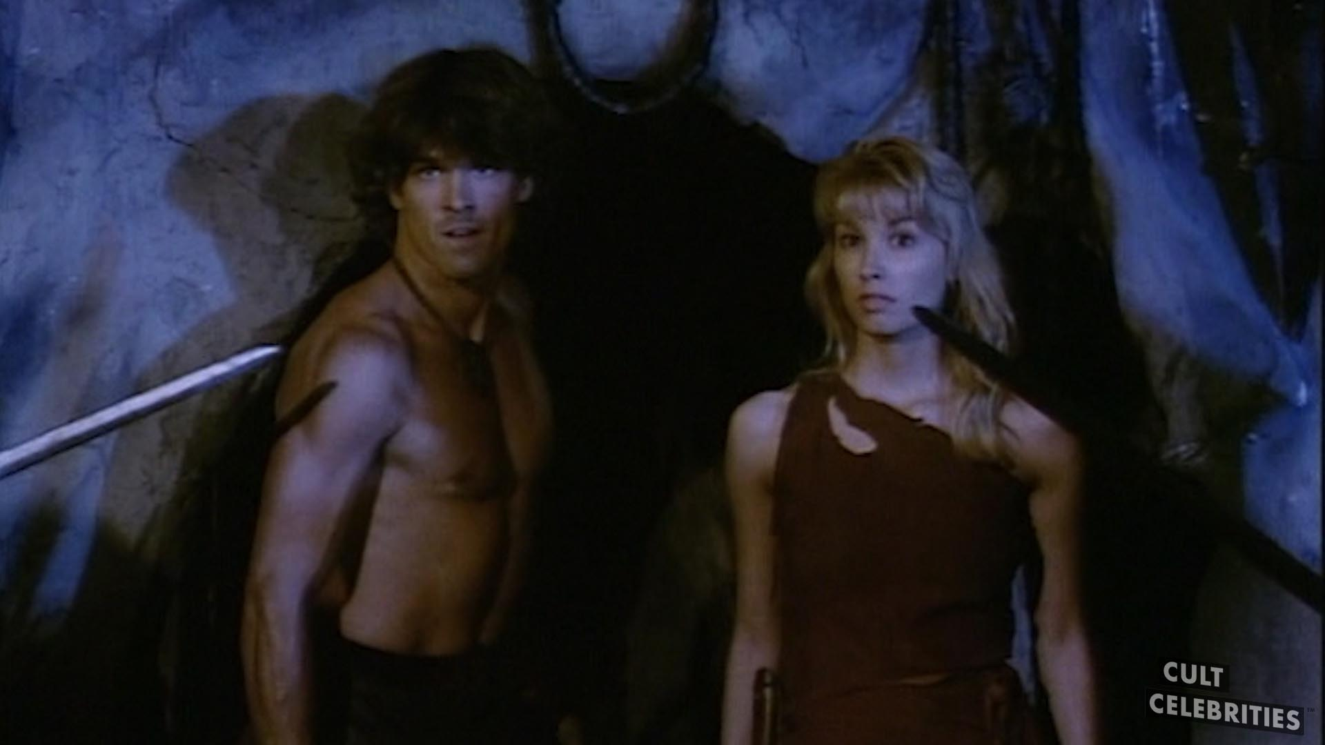 Monique Gabrielle and John Terlesky in Deathstalker II: Duel of the Titans (1987)