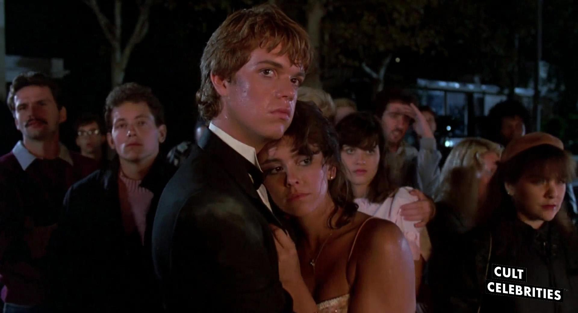 Jason Lively and Jill Whitlow in Night of the Creeps (1986)