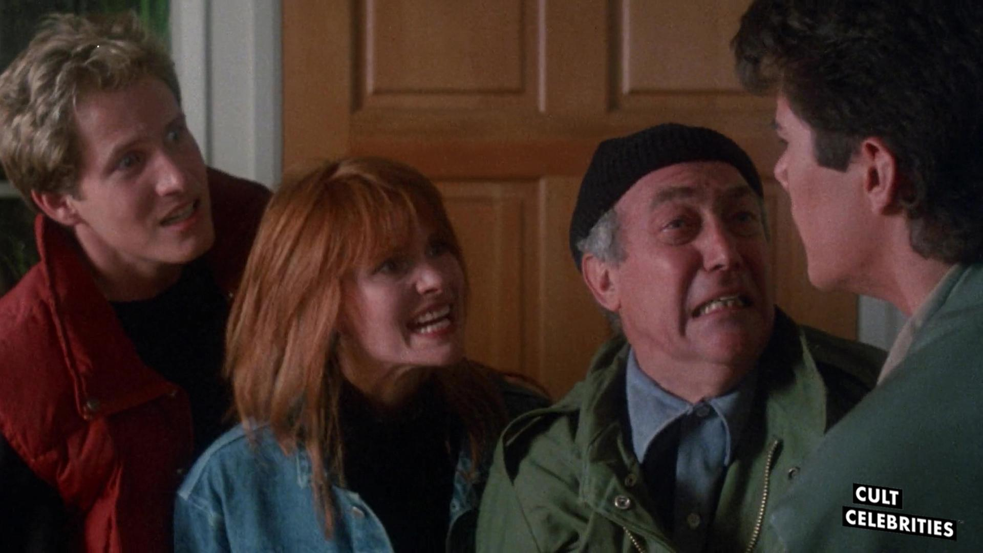 Suzanne Snyder, Dana Ashbrook, Thom Matthews and James Karen in Return of the Living Dead II (1988)