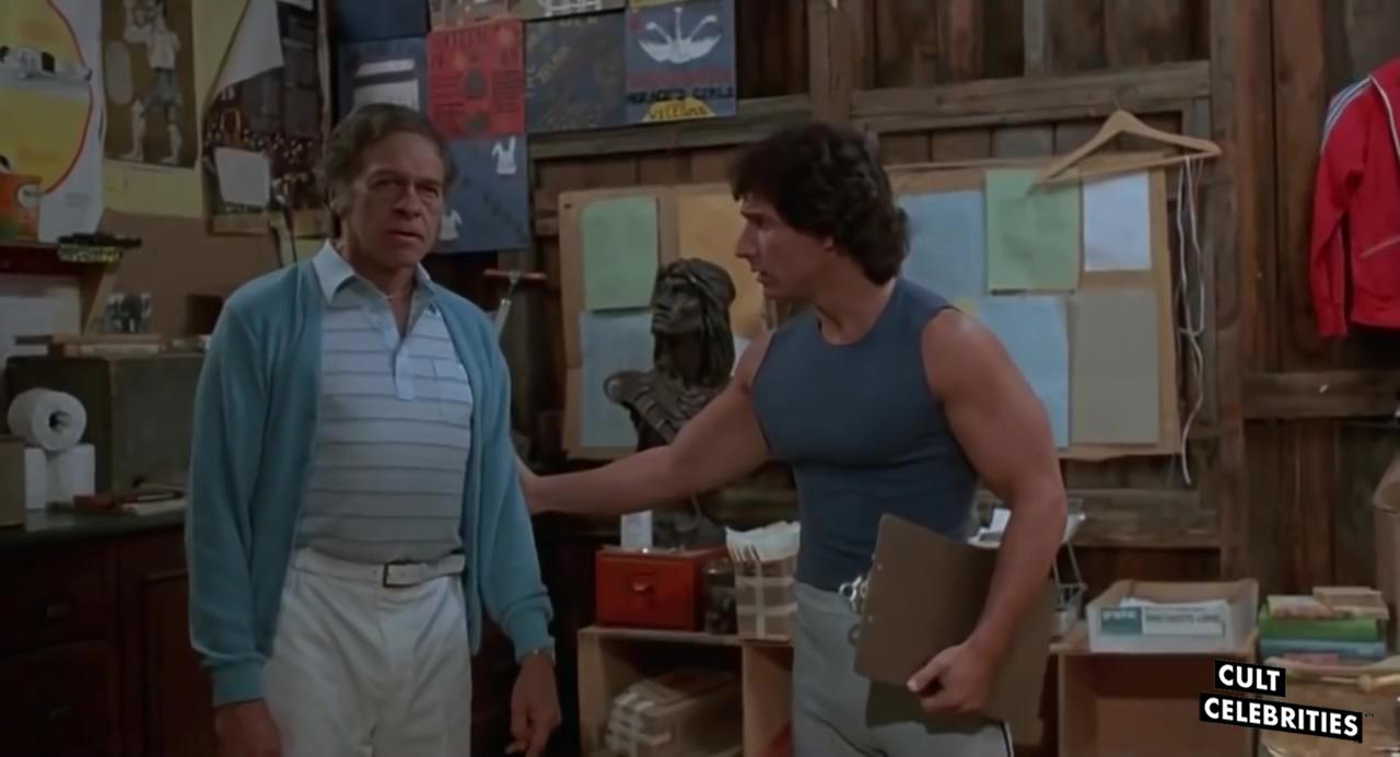 Mike Kellin and Paul DeAngelo in Sleepaway Camp (1983)