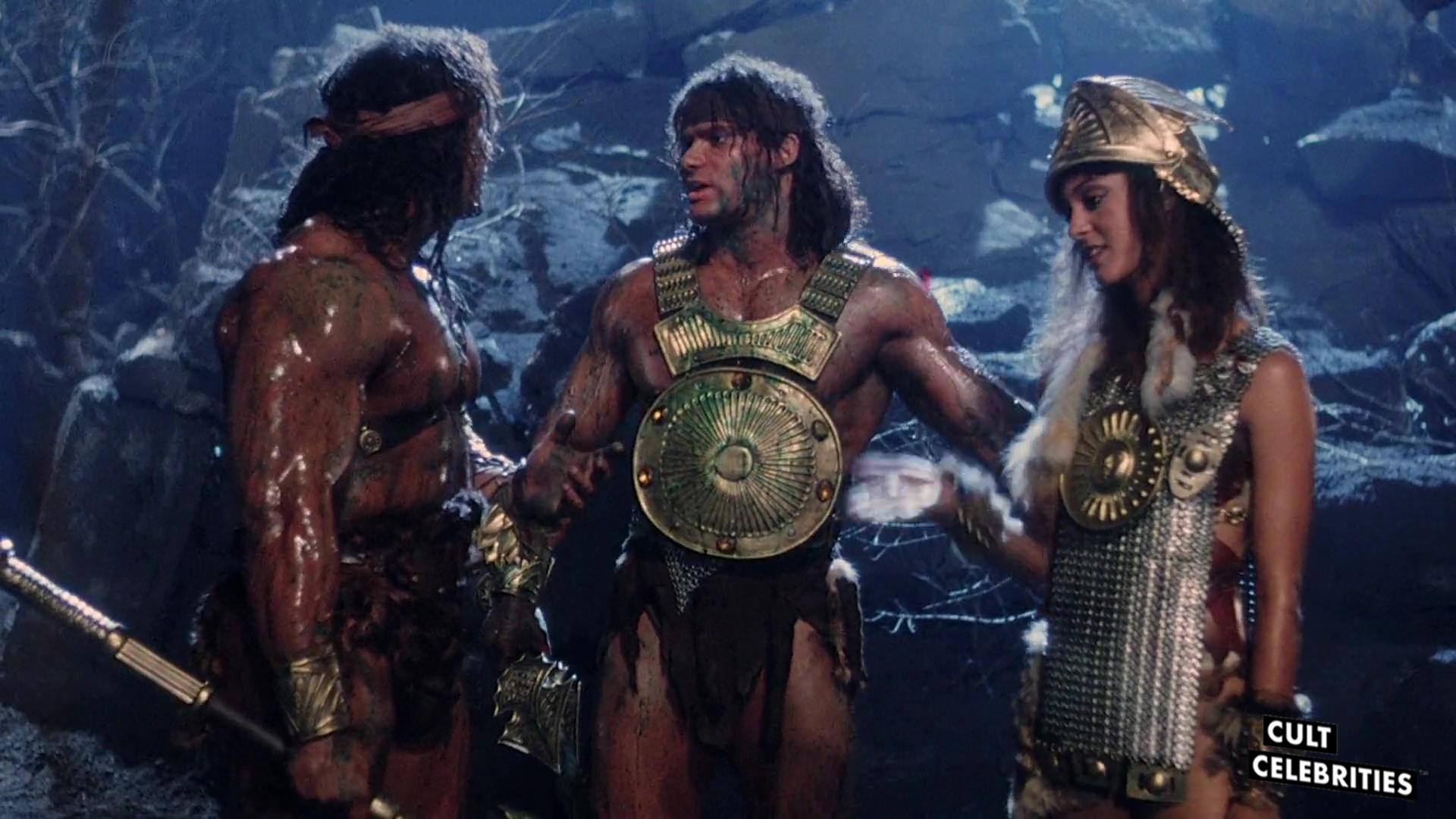 David and Peter Paul with Eva La Rue in The Barbarians (1987)