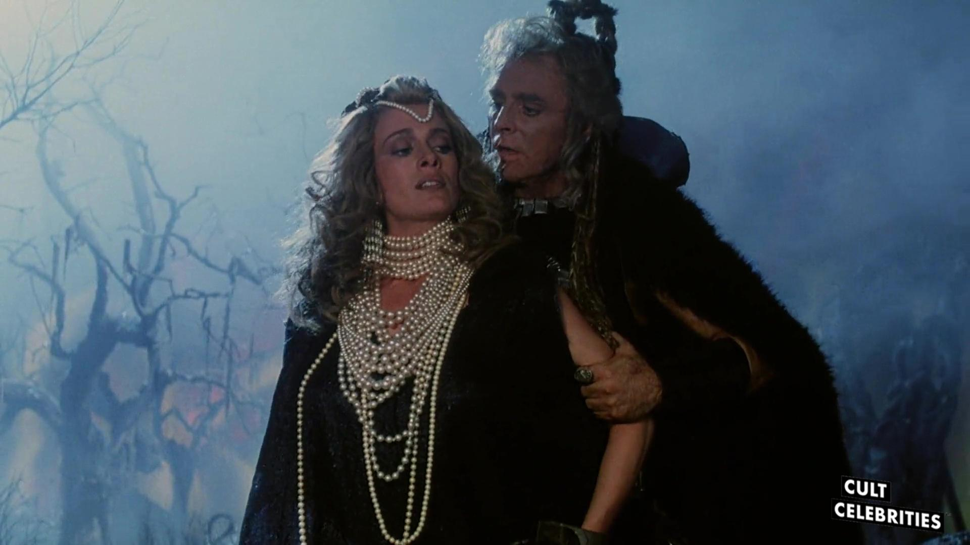 Richard Lynch and Virginia Bryant in the 1987 sword-and-sorcery film The Barbarians.