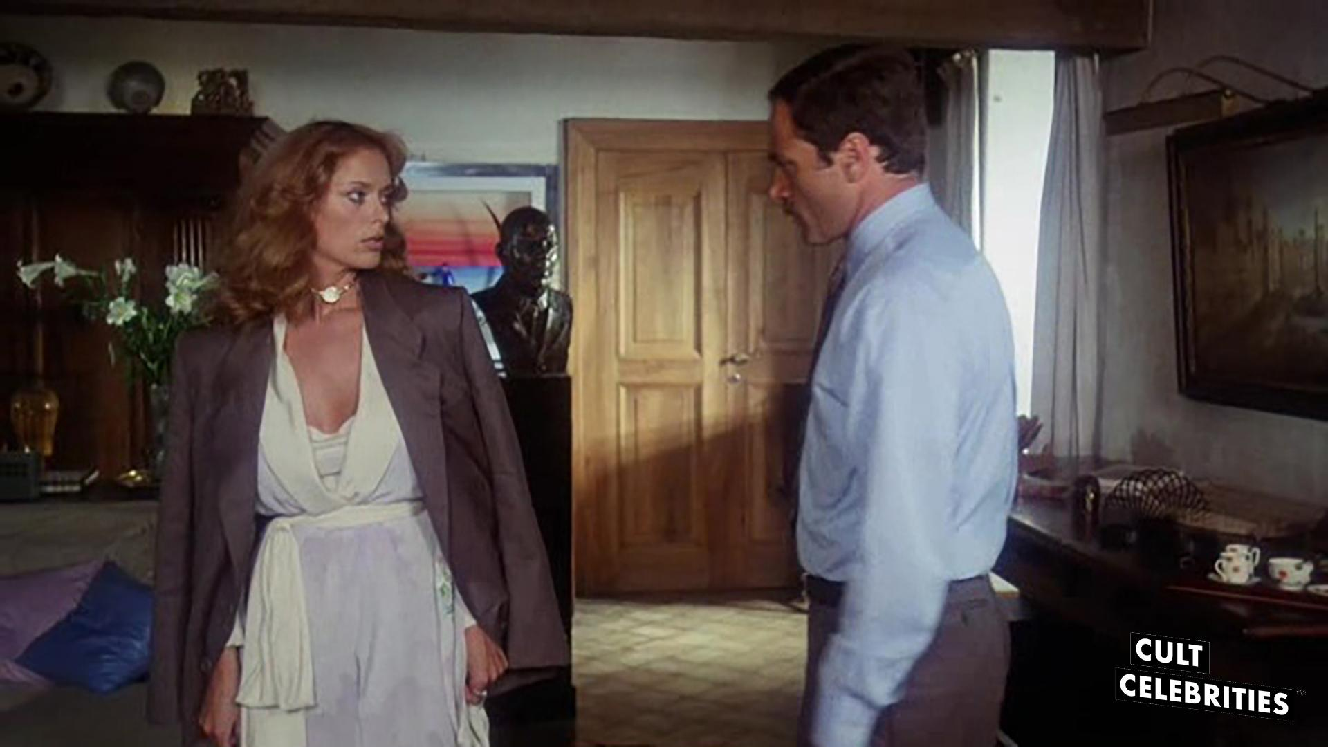 Franco Nero and Sybil Danning in The Salamander (1981)