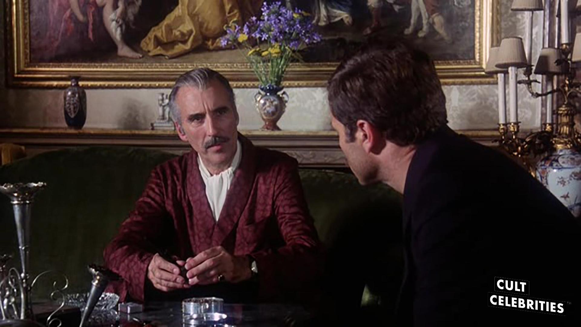 Christopher Lee and Franco Nero in The Salamander (1981)