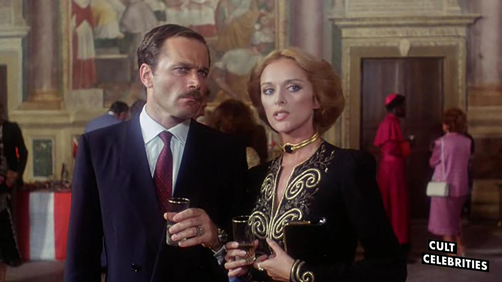 Franco Nero and Sybil Danning in The Salamander (1981)
