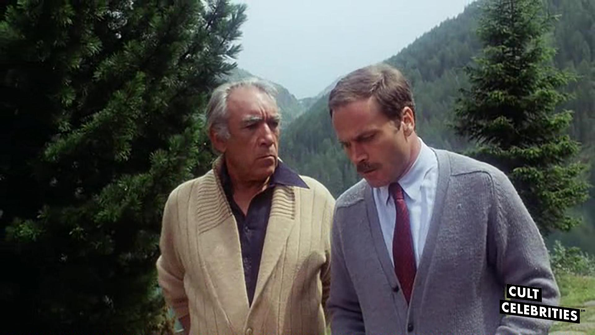 Anthony Quinn and Franco Nero in The Salamander (1981)