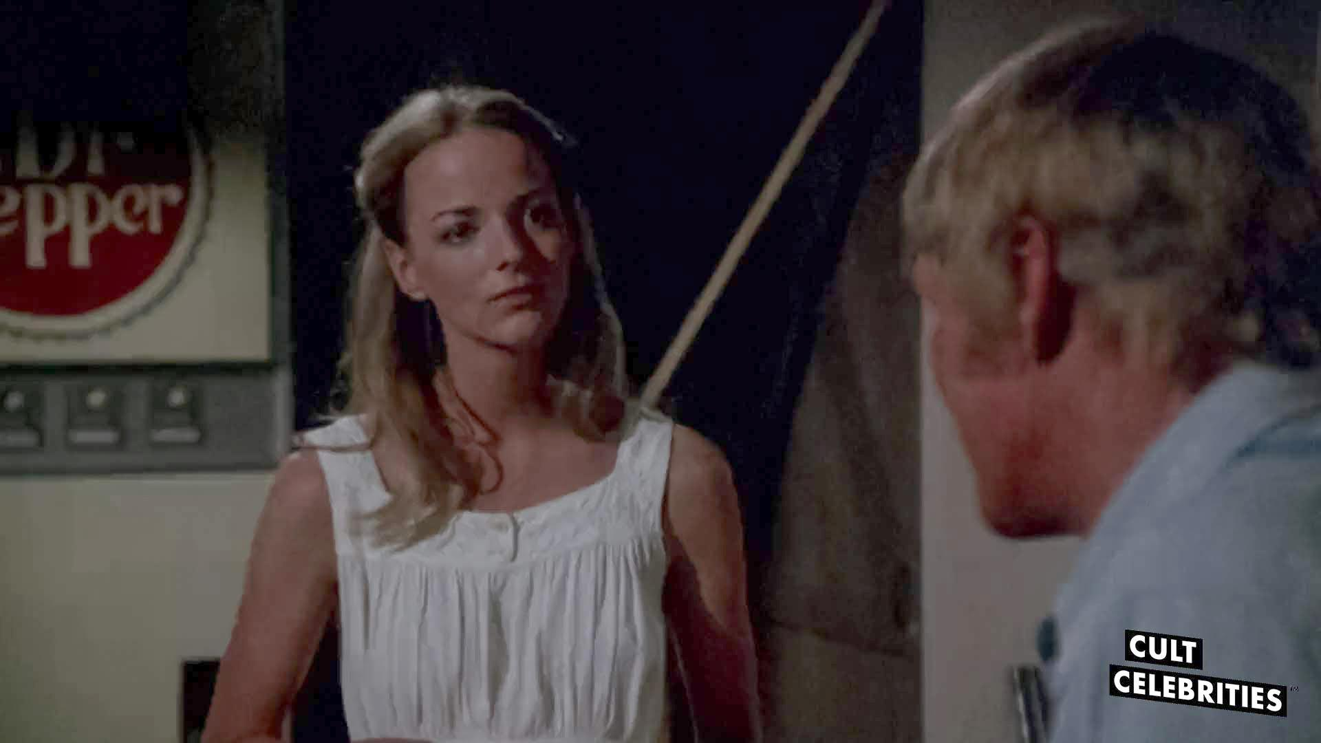 Chuck Connors and Jocelyn Jones in Tourist Trap (1979)