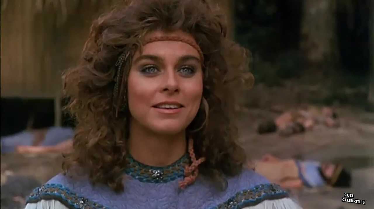 Katt Shea as Estrild in Barbarian Queen (1985)