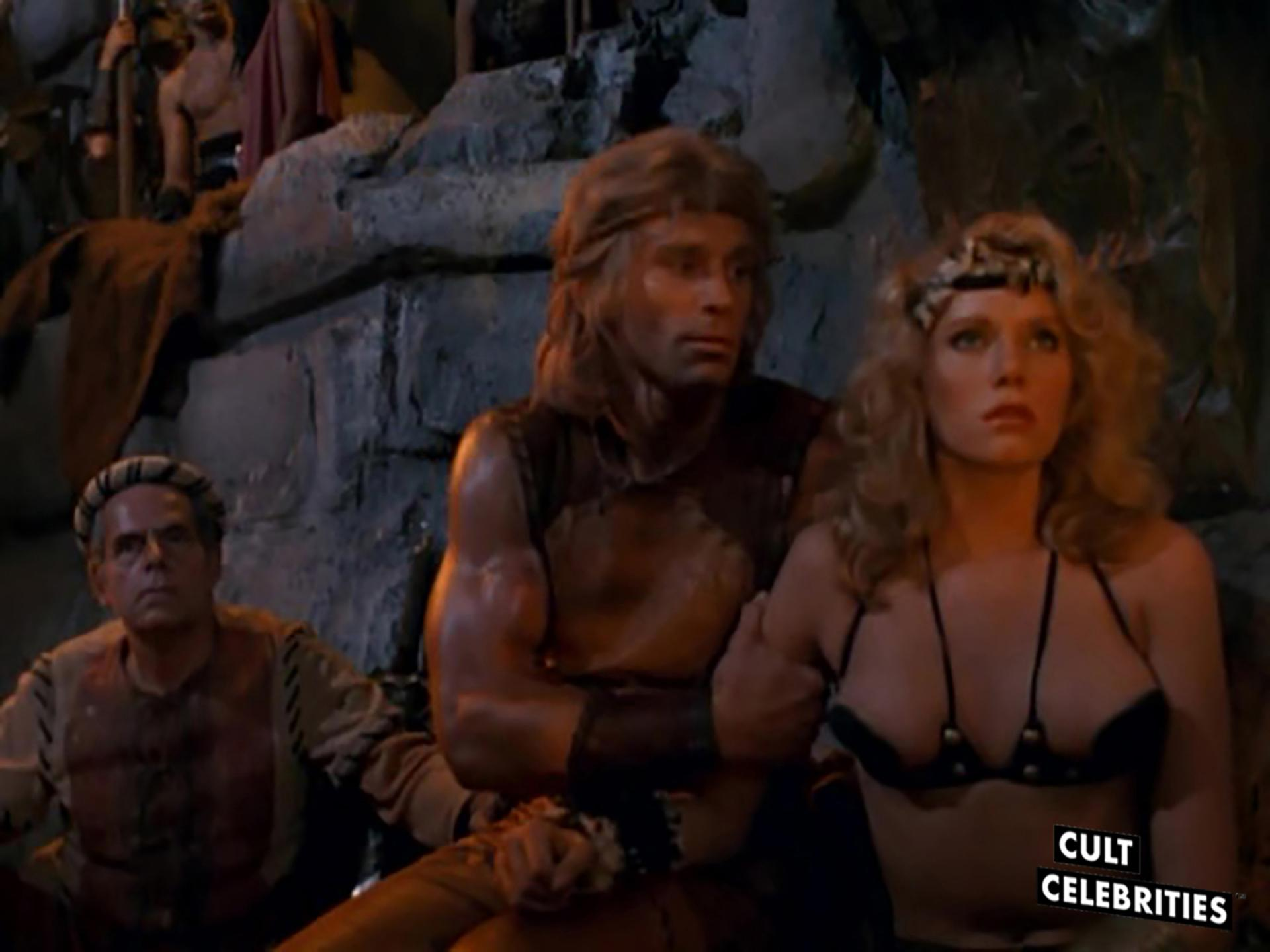 Lana Clarkson and Rick Hill in Deathstalker (1983)