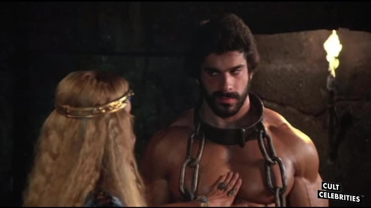 Lou Ferrigno and Sybil Danning in Hercules (1983)