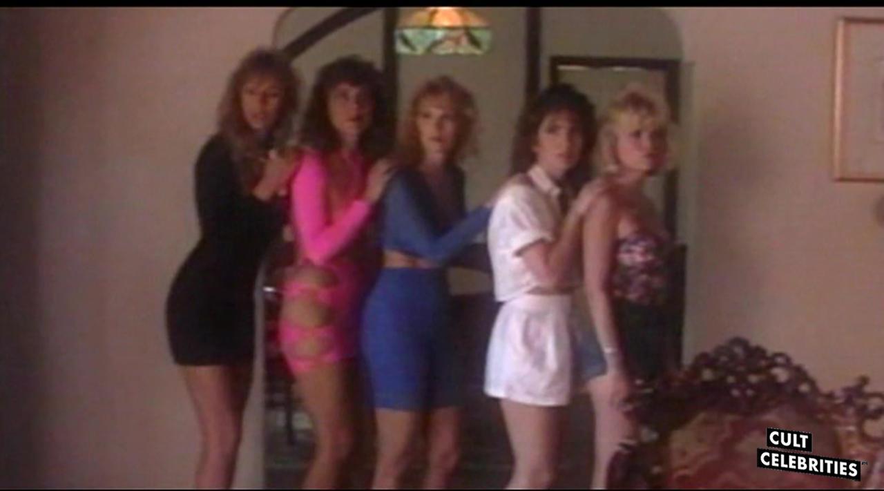 Brinke Stevens, Monique Gabrielle and Kelli Maroney in Scream Queen Hot Tub Party (1991)