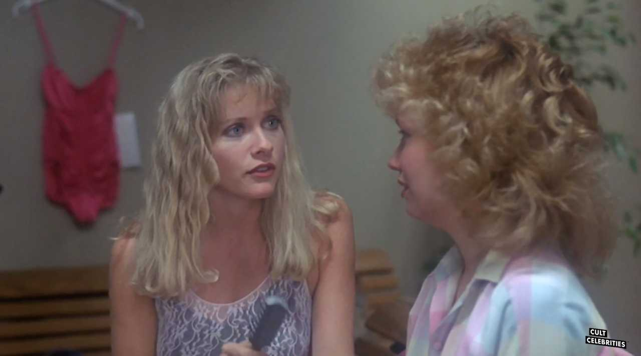 Barbara Crampton and Kelli Maroney in Chopping Mall (1986)