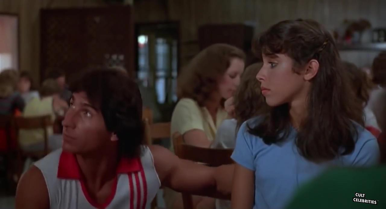 Felissa Rose and Paul DeAngelo in Sleepaway Camp (1983)