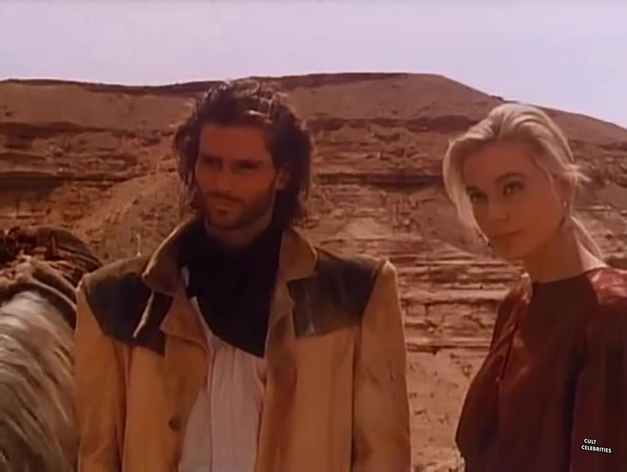 Savina Gersak and Miles O'Keeffe in The Lone Runner (1986)