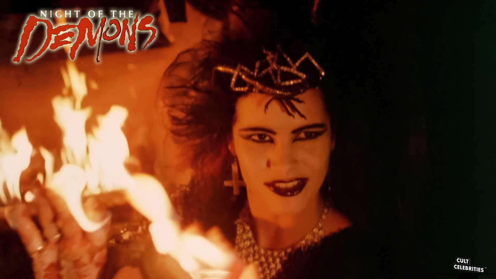 Amelia Kinkade in Night of the Demons (1988)