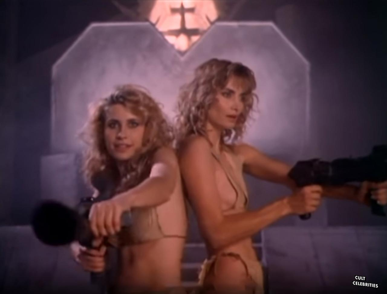 Elizabeth Kaitan and Cindy Beal in Slave Girls from Beyond Infinity (1987)